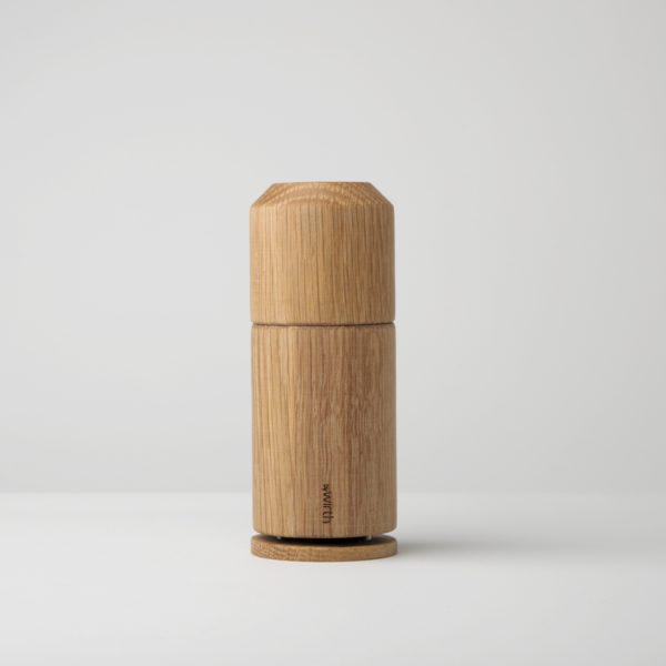 A high quality Scandinavian design grinder in oak