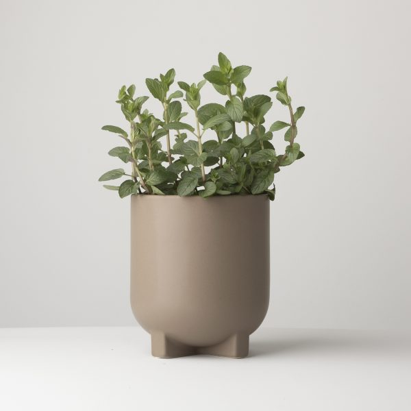 DBKD flower pot in matt dust finish. Scandinavian style design of this timeless home decor makes it a perfect fit for any interior
